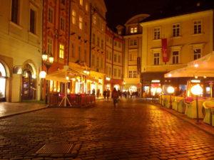 centre historique Prague nuit