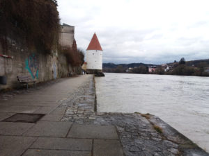 Passau, Bavière, Allemagne, Innwiese
