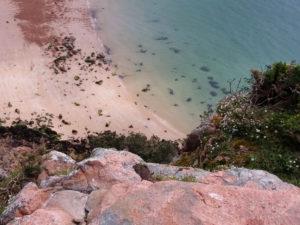 plage de Beauport Jersey lexploraterre.net