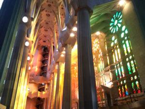 Intérieur Sagrada Familia Barcelone