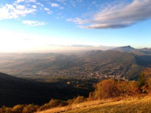 Vue panoramique Nyons, Nyons vue du ciel