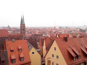 Vue panoramique Nuremberg, Allemagne