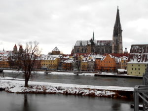 Regensburg sous la neige