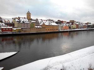 Regensburg, Danube sous la neige