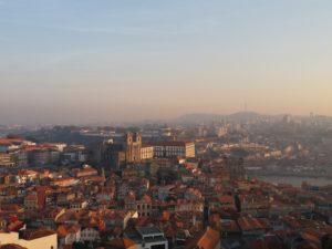 Coucher de soleil Porto, torre dos clerigos porto