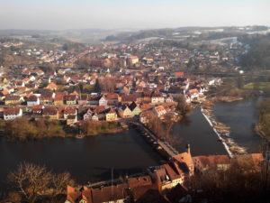 Point de vue Kallmünz, vue aérienne Kallmünz