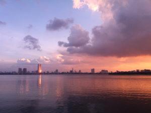 Lac de Tay Ho, Hanoi, Vietnam, coucher de soleil Hanoi