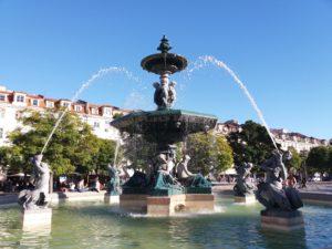 Fontaine Praça Rossio, Lisbonne, Portugal