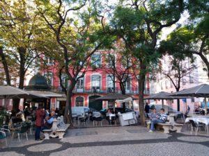 Place typique Lisbonne, Portugal