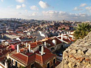 Vue depuis le château de Lisbonne, mirador Lisbonne