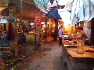 Marché Cho Ngo Sy Lien, Hanoi, Vietnam