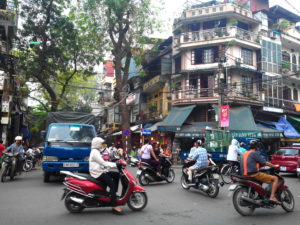 Circulation Vietnam, Vieux quartier, Hanoi, Vitnam, 36 corporations