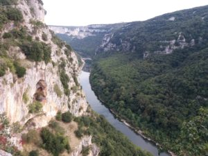 Point de vue gorges de l'Ardèche