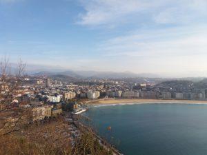 vue du mont urgull, plus belle vue de Saint-Sébastien Espagne
