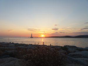 paros, sunset, grèce
