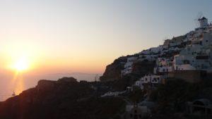 coucher de soleil oia santorin